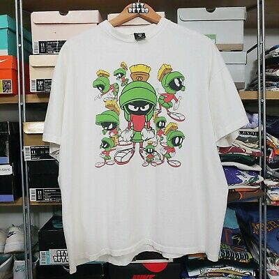 daa2449d3 Vtg 90s Marvin The Martian Graphic T-shirt Warner Brothers 2XL Single Stitch