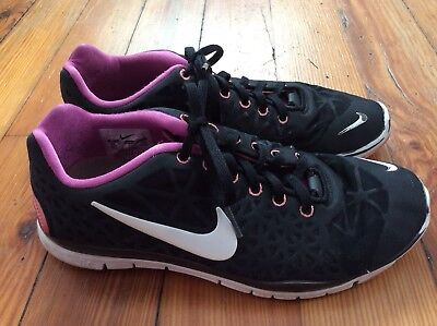 68af3e4504368 WOMEN'S NIKE FREE 5.0 Tr Fit 5 Print Training Shoes NEW Black ...