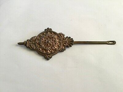USA 1900s Gingerbread Style Mantle Clock Pendulum Weight and Rod Ansonia etc