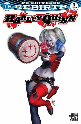 Harley Quinn #1 Rebirth Color Blank Variant Warren Louw MEGA EXCLUSIVE