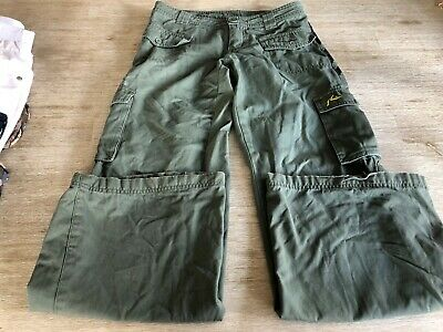 Ladies Rusty Khaki Cargo Pants, Size 8