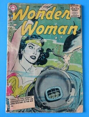WONDER WOMAN #83 ~ 1st SERIES ~ 1956 DC SILVER AGE COMIC BOOK ~ Low Grade