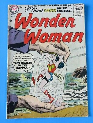 WONDER WOMAN #85 ~ 1st SERIES ~ 1956 DC SILVER AGE COMIC BOOK ~ Mid Grade VG