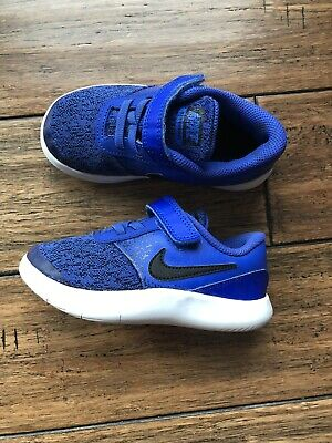 da7656e1b4 Toddler Boys Nike Shoes Flex Contact Size 10 Blue Excellent Condition!