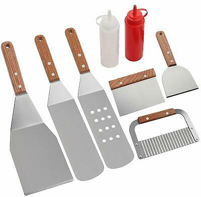 ROMANTICIST 8Pc Professional BBQ Griddle Accessories Kit in Gift Box - Heavy