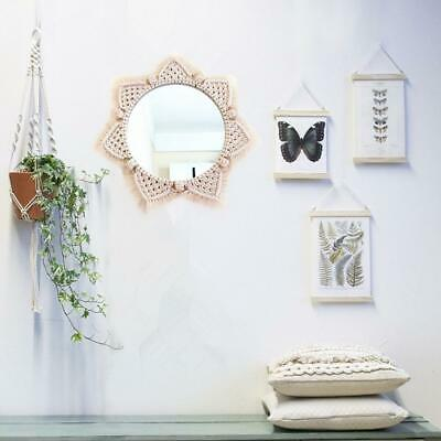 Round Home Decoration Hanging Rope Mirror Cotton Bohemian Room Mirror Wall Decor