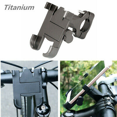 1PC Titanium Aluminum Alloy Motorcycle Bike Handlebar Phone Mount Holder Bracket