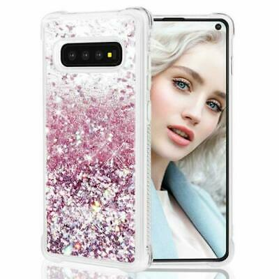 Shockproof Bling Liquid Glitter Case Cover For Samsung Galaxy S10 Plus S8 S9+