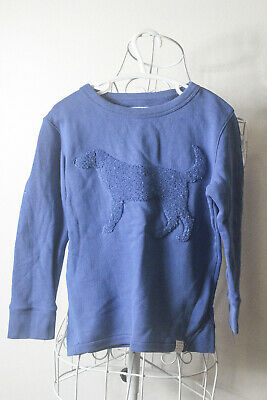 """""""Country Road"""" Size 3 Striking Blue Sweater with Cute Dog. Perfect! Bargain!"""