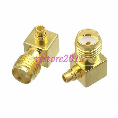 1pce Adapter Connector SMA female jack to MMCX male right angle for Wireless
