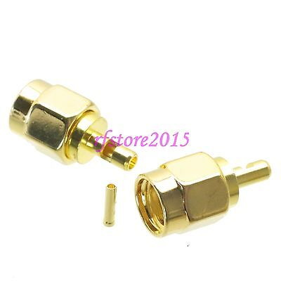 1pce Connector RP-SMA male jack solder RG178 RG196 RF COAXIAL Straight