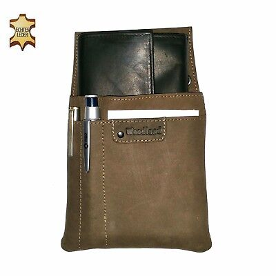 Real Leather Server Set 2 Pcs Wallet Server Case Holster Wallet Belt Bag