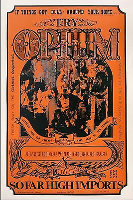 """Opium"" The Original ""Dope"" Poster - New Old Stock from Original Publisher 1967"