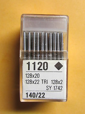 100-128x2, 128x20, 128x22 Leather Sewing Machine Needles sz 22  Singer