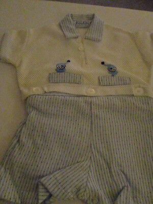 Boy's shorts and top  baby blue and white NEW w/tag  12mths