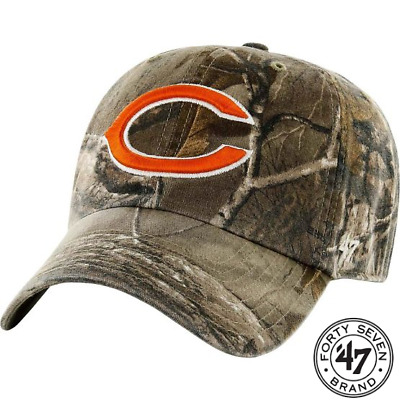 hot sales 9c60f 3ec8f 47 Brand Chicago Bears Camo Realtree Hunting Football Hat Cap Adjustable