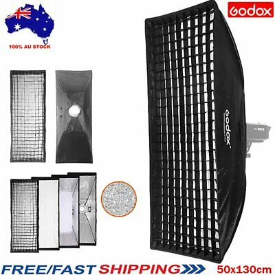 Godox 50x130cm Bowens Mount Strip Softbox with Grid For Strobe Flash Light Light
