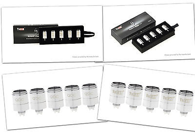 Authentic Yocan Evolve Plus Replacement QDC, Ceramic Coil Head (5-Pack)