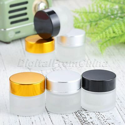 Empty Jar Pot Cosmetic Cream Glass Container 3 Colors Glass Jars Bottles 10g