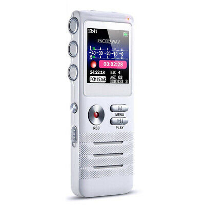 8GB Dictaphone Voice Activated Noise Reduction Dual Microphones Digital Recorder