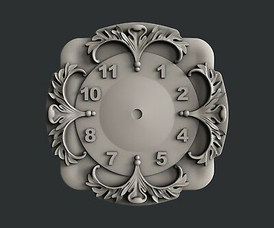 3d STL models for CNC, Artcam, Aspire, relief clock