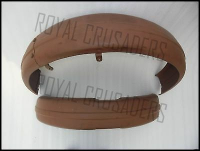 Triumph 3HW 350 CC Front and Rear Mudguards Fender With  Stay Kit GEc