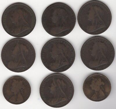 Mix Of Victoria Half & One Penny Coins | Bulk Coins | Pennies2Pounds