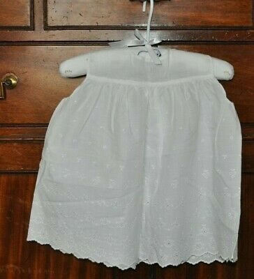 "Authentic Vintage 1950 1960's ""Stevex"" White Broderie Anglaise Baby Dress Ch 18"""
