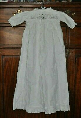 Authentic Antique Victorian Edwardian Baby Christening Gown - Broderie Anglaise