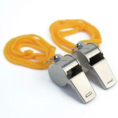 Stainless steel Metal Referee Ref Football Training Whistle High Pitched Hockey