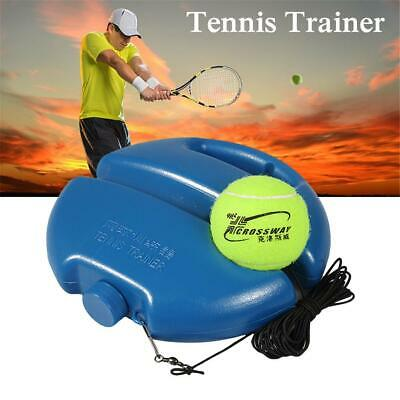 Tennis Practice Exercise Ball Trainer With Line And Ball Base Blue Brand New