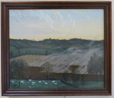 Laurence Irving (1897-1988) original signed OIL PAINTING Rother Valley YORKSHIRE