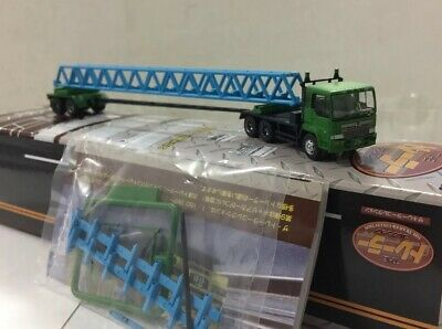 TOMYTEC N Scale Trailer Collection#9 Hino Semi Tractor & Oversize/Long Load