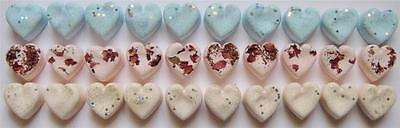 30 x BATH BOMB ESSENTIAL OIL HEARTS -  WEDDING FAVORS OR HOME USE