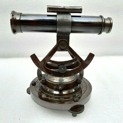 Antique Alidade Level Telescope Brass With Compass Gift