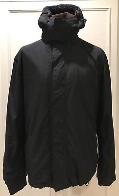 Mens Black Fleece Lined Windcheater Jacket By George Size Large
