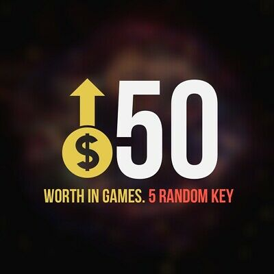 5 Random Steam Key Premium Games (+$50) Global Delivery Fast (REGION FREE)