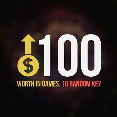 10 Random Steam Key Premium Games (+$100) Global Delivery Fast (REGION FREE)