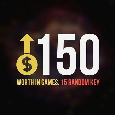 15 Random Steam Key Premium Games (+$150) Global Delivery Fast (REGION FREE)