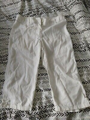 Next Age 7 White 3/4 Trousers VGC