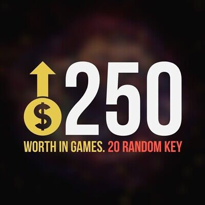 20 Random Steam Key Premium Games (+$250) Global Delivery Fast (REGION FREE)