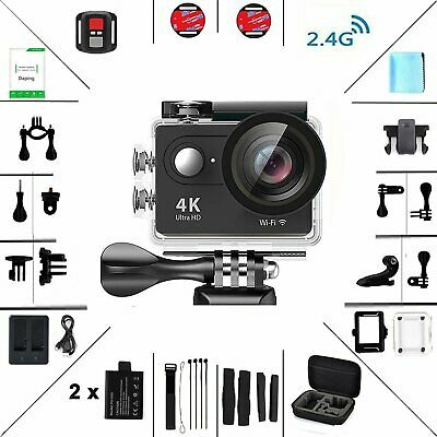 Action Kamera WIFI sports cam 4K camera 12MP Unterwasserkamera mit Fernbedienung