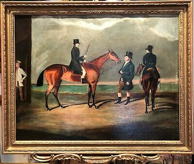 HUGE OLD MASTER Mid/late 18th CENTURY CIRCLE of GEORGE STUBBS   OIL PAINTING