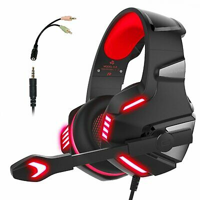 HUNTERSPIDER V3 Pro Gaming Headset w/Mic Stereo Surround Sound, PS4 XBOX ONE