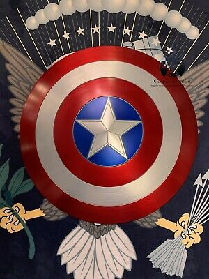 "NEW! 60CM/23.5"" Captain America Shield 1:1  Full Aluminum Metal Shield Cosplay"