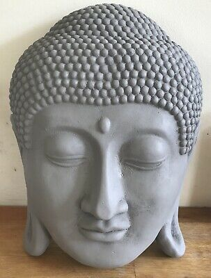 Latex mould for making Large Rustic Style Buddha Head Plaque