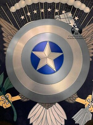 "NEW! 60CM/23.5"" Captain America Shield STEALTH 1:1  Full Aluminum Metal Shield"