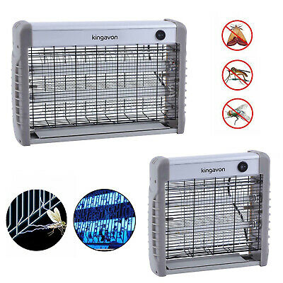 Indoor Industrial Electric Insect Killer Fly Mosquito Zapper 2 UV / LED Light