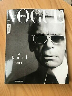 Vogue Italia March 2019 Tribute to Karl Lagerfeld
