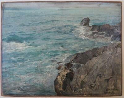 Karl Theodor Böehme (1866-1939) Signed Original Marine OIL PAINTING seascape